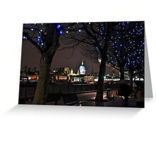A night with St Paul's Greeting Card