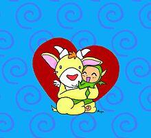 Cute monster hug by Olluga
