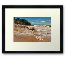 Onemana Beach Drift Framed Print