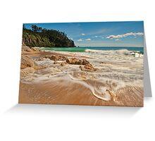Onemana Beach Drift Greeting Card