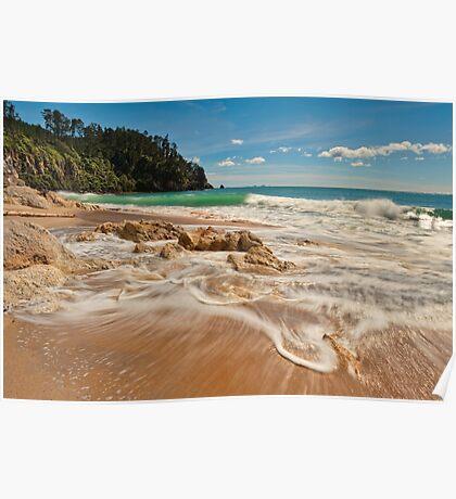 Onemana Beach Drift Poster
