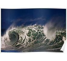 Winter Waves At Waimea Bay 5 Poster