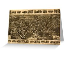 Panoramic Maps Middletown NY Greeting Card