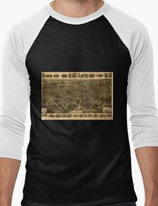 Panoramic Maps Middletown NY Men's Baseball ¾ T-Shirt