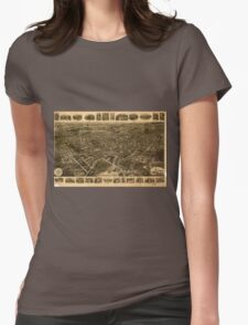 Panoramic Maps Middletown NY Womens Fitted T-Shirt