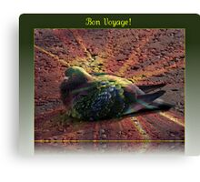 Bon Voyage - Greeting Card for Bird Lovers Canvas Print