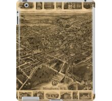 Panoramic Maps Middletown NY iPad Case/Skin