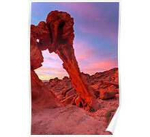 Elephant Rock Morning Glow Poster