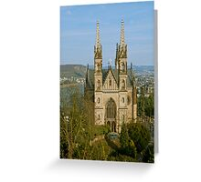 Apollinaris church in Remagen, Germany Greeting Card
