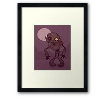 Rusty Zombie Robot  Framed Print