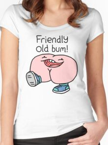 """Willy Bum Bum - """"Friendly Old Bum!"""" Women's Fitted Scoop T-Shirt"""