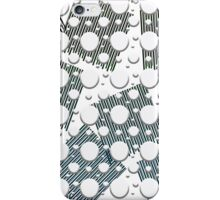 white spots with black iPhone Case/Skin