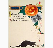 Black Cat (Vintage Halloween Card) Unisex T-Shirt