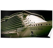 Royal Carribean Oasis Ship Poster