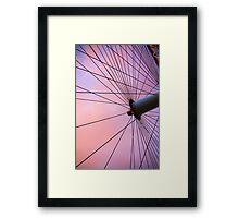 Lavender Sky and London Eye Wheel Framed Print