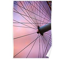 Lavender Sky and London Eye Wheel Poster