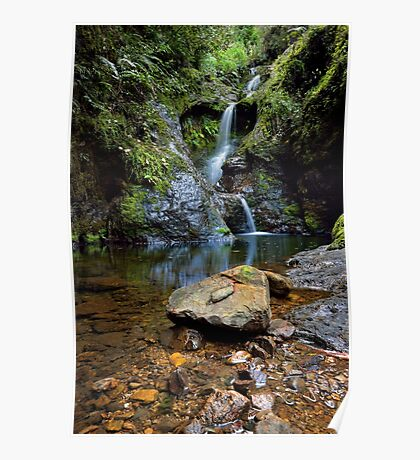 White Star Waterfall Poster