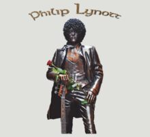 Philip Lynott's Statue - T-shirt by Martina Fagan