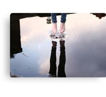 Jump & touch the sky Canvas Print