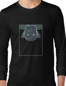 Chimp Mauve Green C Long Sleeve T-Shirt