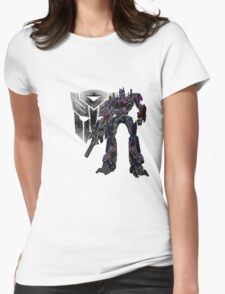 Glowing Optimus Womens Fitted T-Shirt