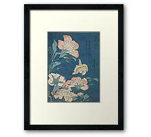 Japanese Print: Small Flowers Framed Print