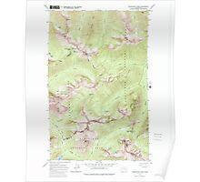 USGS Topo Map Washington State WA Washington Pass 244537 1963 24000 Poster
