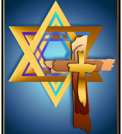 Star Of David and Triple Cross Sticker