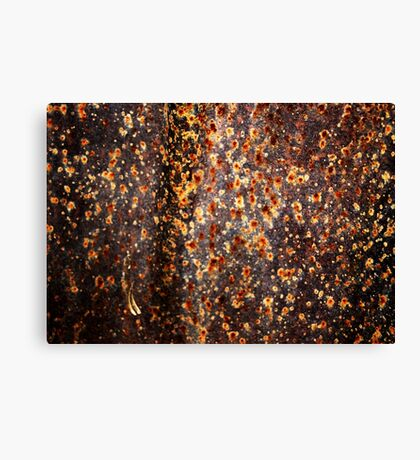 """Fireflies Annual Convention"" (rust abstract) Canvas Print"