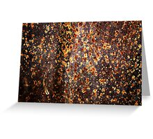 """""""Fireflies Annual Convention"""" (rust abstract) Greeting Card"""