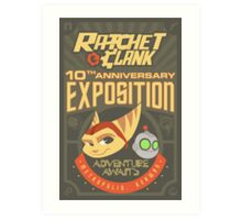 Ratchet & Clank 10th Anniversary Exposition Art Print