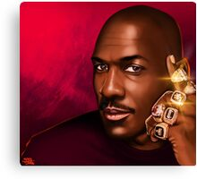 "MICHAEL JORDAN ""HIS ROYAL AIRNESS"" Canvas Print"