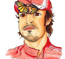 Fernando Alonso by Stuart F Taylor