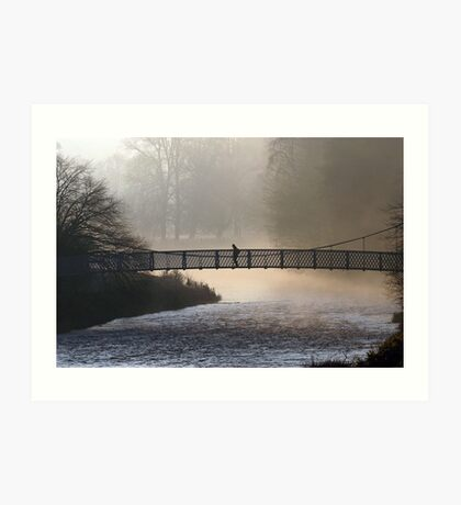 Misty Morning Peebles Art Print