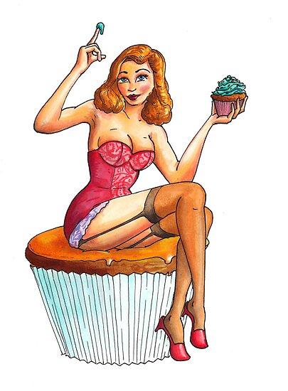 Cupcake Girl 1 by Stuart F Taylor