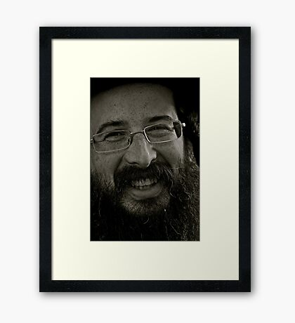 On the eve of a holy Sabbath ,  A dank ojch zejer!  Rabi as a very joyful young man ... by Andrew Brown Sugar. featured in Culture at Large (A to Z) & 50+ GROUP. Toda raba ! Bruce ! 119 views. Framed Print