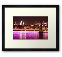 St. Paul's Cathedral with a splash of colours Framed Print