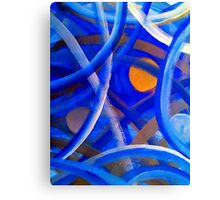 Blu Brush Canvas Print