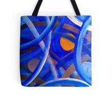 Blu Brush Tote Bag