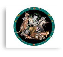 Australian fauna plate Canvas Print