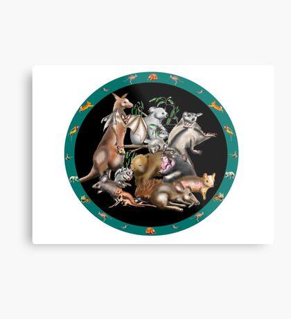 Australian fauna plate Metal Print