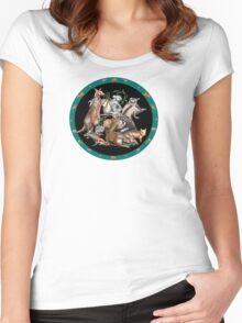 Australian fauna plate Women's Fitted Scoop T-Shirt