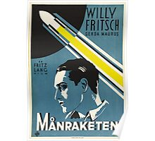 1929 Swedish Fritz Lang Movie Poster—Månraketen (Woman in the Moon / Frau im Mond) Poster