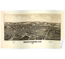 Panoramic Maps White Plains NY 1887 Poster