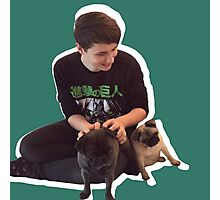 Dan and pewds pugs! Photographic Print