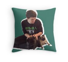 Dan and pewds pugs! Throw Pillow