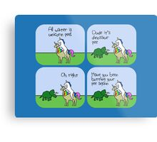 All Water Is Dinosaur Pee And Definitely Not Unicorn Pee Metal Print