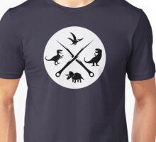 Hipster Dinosaurs Logo (black version) Unisex T-Shirt