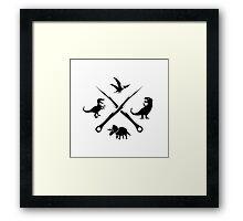 Hipster Dinosaurs Logo (black version) Framed Print
