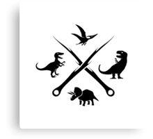 Hipster Dinosaurs Logo (black version) Canvas Print